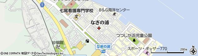 石川県七尾市なぎの浦周辺の地図