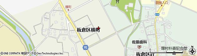 新潟県上越市板倉区横町周辺の地図