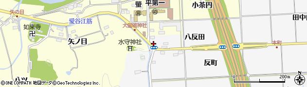 福島県いわき市平荒田目(八反田)周辺の地図