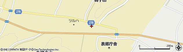 福島県白河市表郷金山(前沢田)周辺の地図