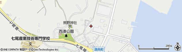 石川県七尾市津向町(貝崎)周辺の地図