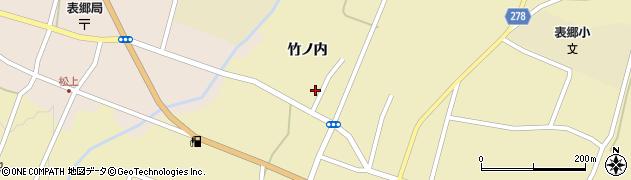福島県白河市表郷金山(竹ノ内)周辺の地図