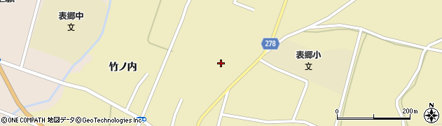 福島県白河市表郷金山(井戸尻)周辺の地図