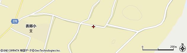 福島県白河市表郷金山(上谷地)周辺の地図