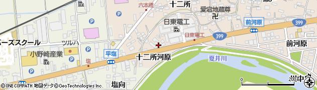 福島県いわき市平中神谷(十二所河原)周辺の地図