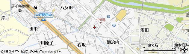 福島県いわき市好間町中好間(鍛冶内)周辺の地図