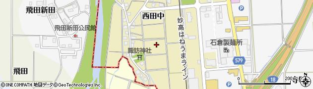 新潟県上越市西田中周辺の地図