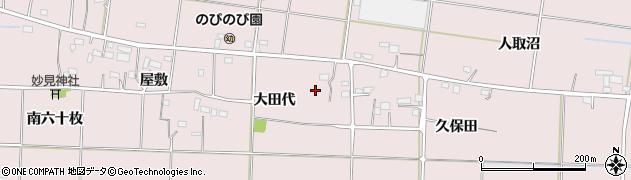 福島県いわき市平下神谷(大田代)周辺の地図