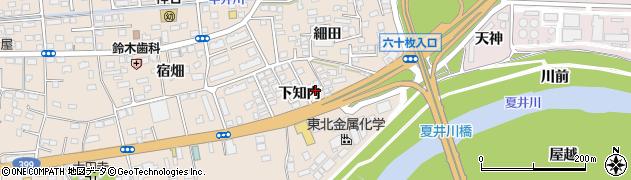 福島県いわき市平中神谷(下知内)周辺の地図