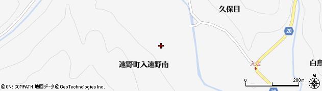 福島県いわき市遠野町入遠野(南)周辺の地図