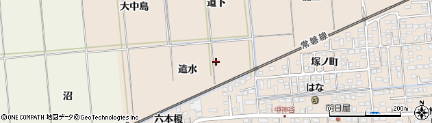 福島県いわき市平中神谷(遣水)周辺の地図