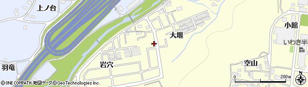 福島県いわき市好間町上好間(大堰)周辺の地図
