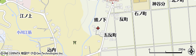 福島県いわき市平上神谷(熊ノ下)周辺の地図