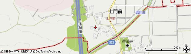 新潟県上越市上門前周辺の地図