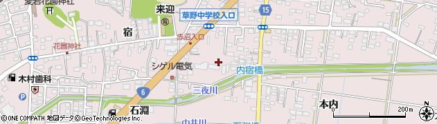 福島県いわき市平下神谷(内宿)周辺の地図