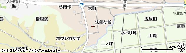 福島県いわき市好間町愛谷(法師ケ崎)周辺の地図