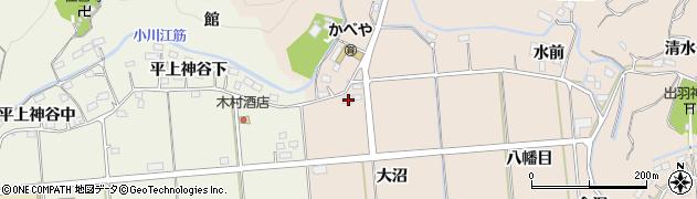 福島県いわき市平中神谷(大沼)周辺の地図