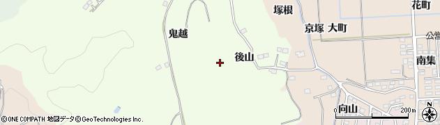 福島県いわき市平下片寄(後山)周辺の地図