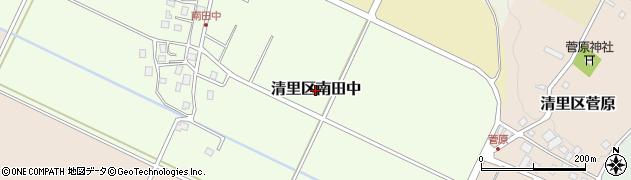 新潟県上越市清里区南田中周辺の地図