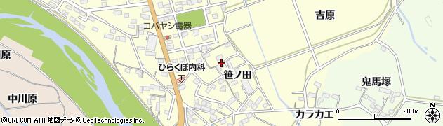 福島県いわき市平下平窪(笹ノ田)周辺の地図