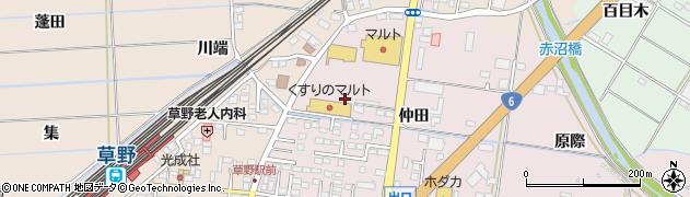 福島県いわき市平下神谷(仲田)周辺の地図