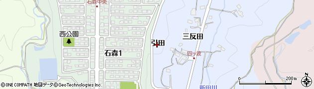 福島県いわき市平四ツ波(引田)周辺の地図