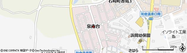 石川県七尾市泉南台周辺の地図