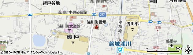 福島県石川郡浅川町周辺の地図
