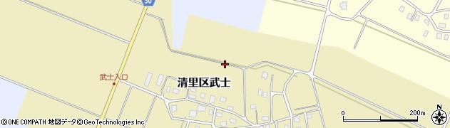 新潟県上越市清里区武士周辺の地図