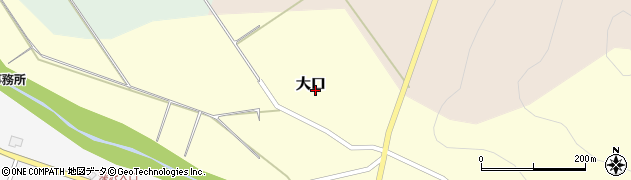 新潟県上越市大口周辺の地図