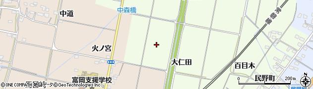 福島県いわき市四倉町大森(大仁田)周辺の地図