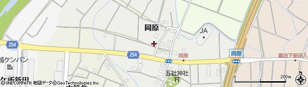 新潟県上越市岡原周辺の地図