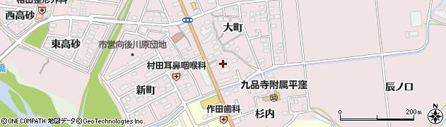 福島県いわき市平中平窪(横枕)周辺の地図
