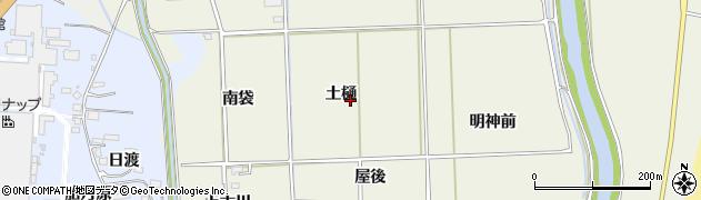福島県いわき市四倉町下仁井田(土樋)周辺の地図