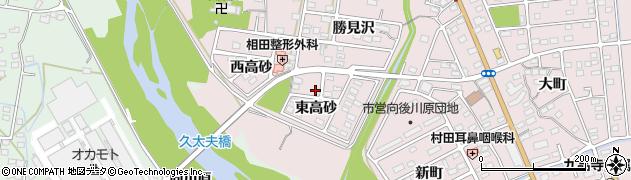 福島県いわき市平中平窪(東高砂)周辺の地図