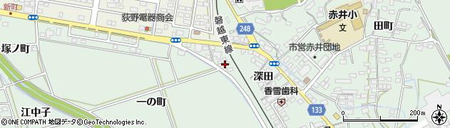 福島県いわき市平赤井(深田)周辺の地図