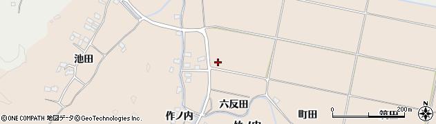 福島県いわき市平馬目(六反田)周辺の地図