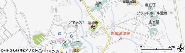喰初寺周辺の地図