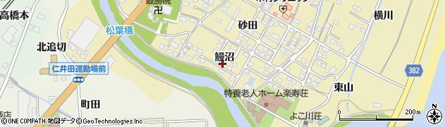 福島県いわき市四倉町上仁井田(鰻沼)周辺の地図