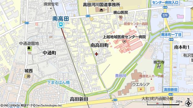 〒943-0846 新潟県上越市南高田町の地図