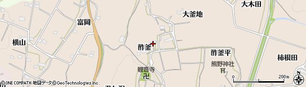 福島県いわき市平上平窪(酢釜)周辺の地図
