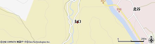 新潟県上越市土口周辺の地図