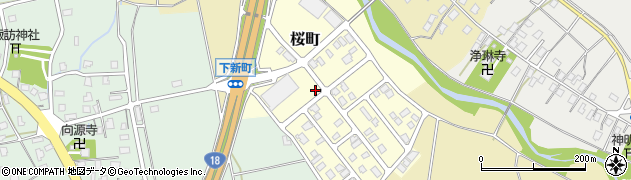 新潟県上越市桜町周辺の地図