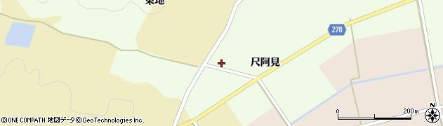 福島県白河市東栃本(尺阿見)周辺の地図