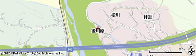 福島県いわき市平中平窪(後川原)周辺の地図