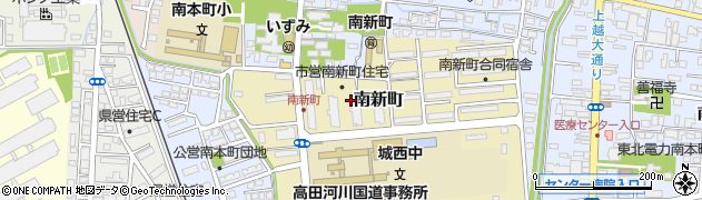 新潟県上越市南新町周辺の地図