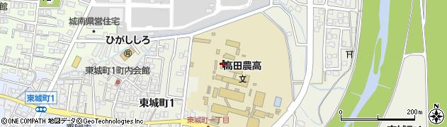 新潟県上越市東城町周辺の地図