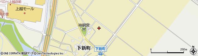 新潟県上越市下新町周辺の地図
