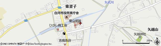 福島県白河市東釜子(田町)周辺の地図