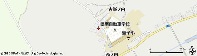 福島県白河市東釜子(龍ヶ窪)周辺の地図